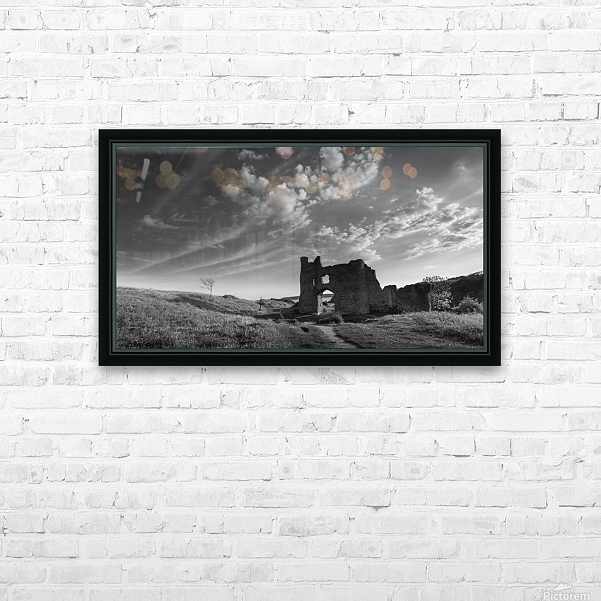 Pennard castle Gower HD Sublimation Metal print with Decorating Float Frame (BOX)