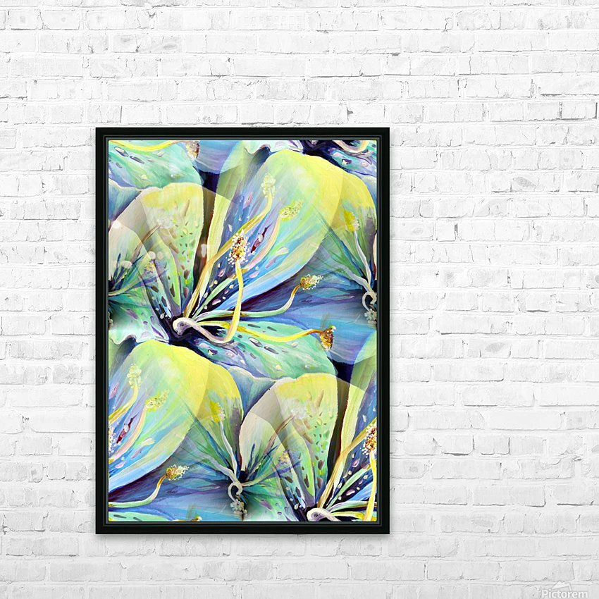 Blooming flowers Seamless Pattern HD Sublimation Metal print with Decorating Float Frame (BOX)
