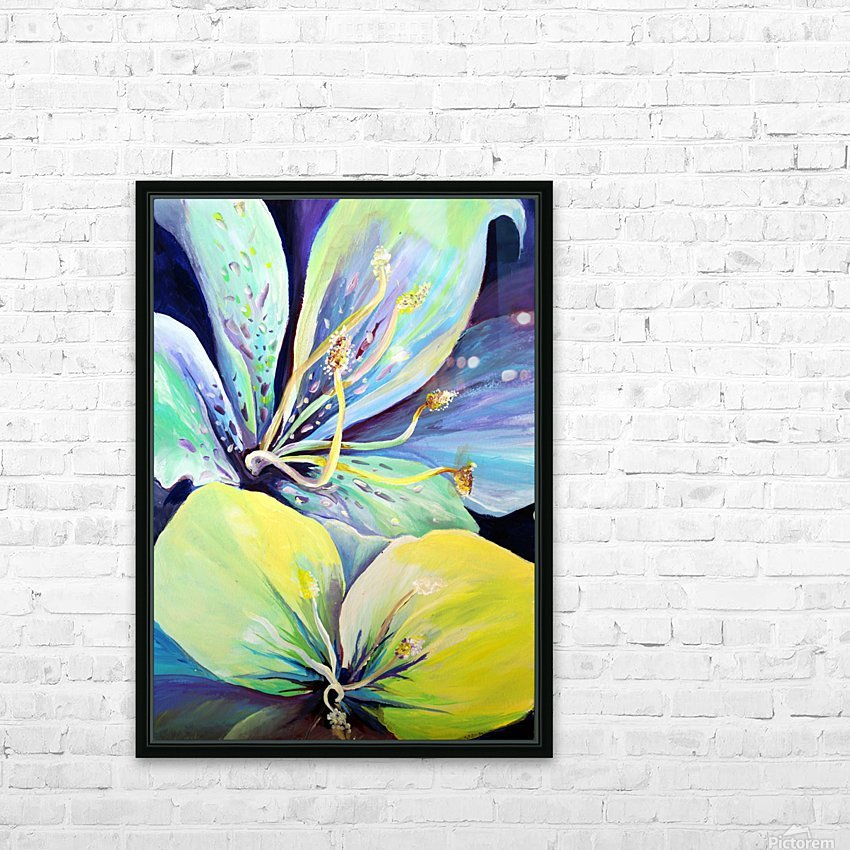 Blooming Flowers  HD Sublimation Metal print with Decorating Float Frame (BOX)