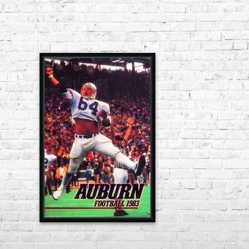 auburn football art 1983 HD Sublimation Metal print with Decorating Float Frame (BOX)