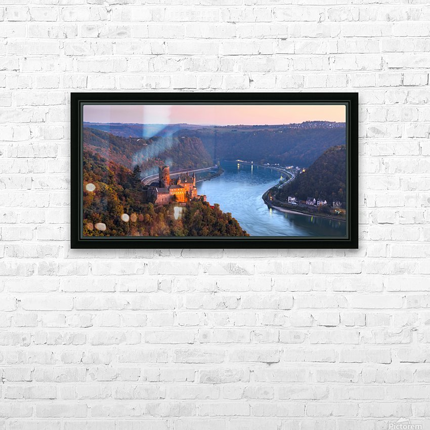 THE RHINE 03 HD Sublimation Metal print with Decorating Float Frame (BOX)