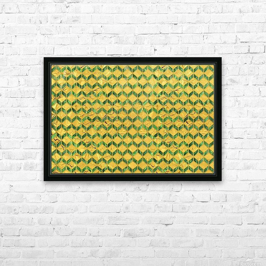 Geometric  XXXXIX  HD Sublimation Metal print with Decorating Float Frame (BOX)