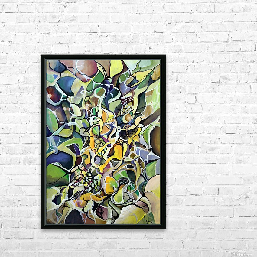 Chaos Theory in Interlacing Style  HD Sublimation Metal print with Decorating Float Frame (BOX)
