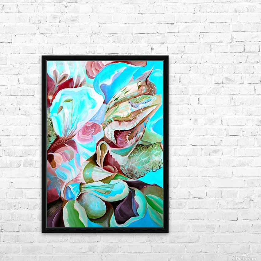Realm of Tropical Exotic Nature Pattern HD Sublimation Metal print with Decorating Float Frame (BOX)