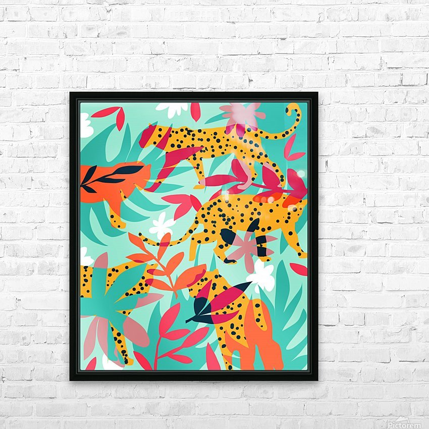 Chasing The Cheetah HD Sublimation Metal print with Decorating Float Frame (BOX)