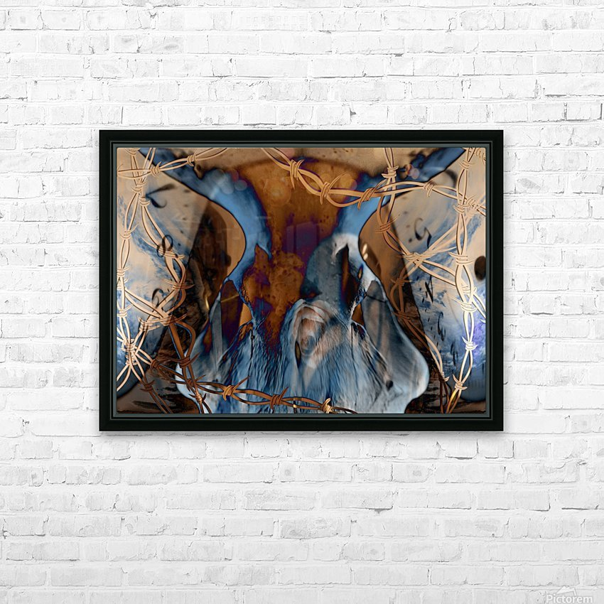 Western Grunge HD Sublimation Metal print with Decorating Float Frame (BOX)