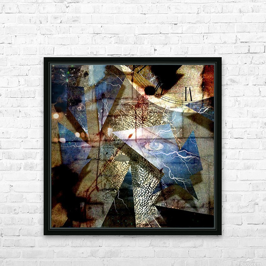 The Shards of Reality HD Sublimation Metal print with Decorating Float Frame (BOX)