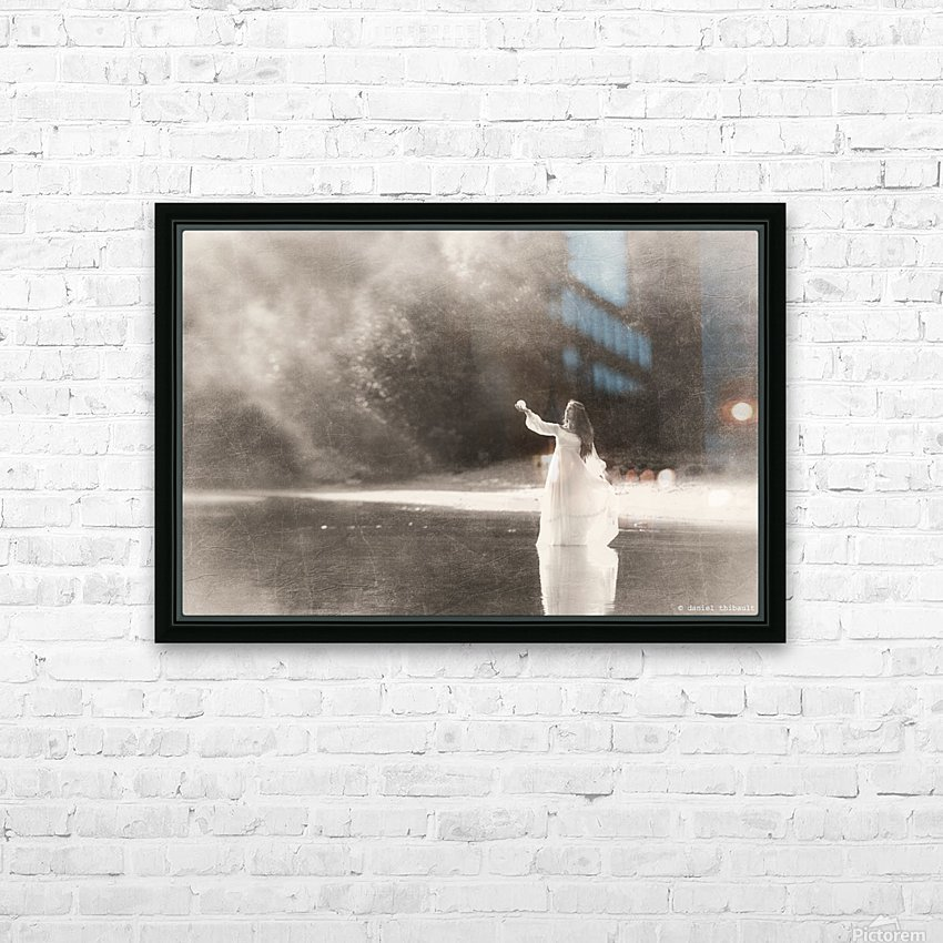 Lady by the lake HD Sublimation Metal print with Decorating Float Frame (BOX)
