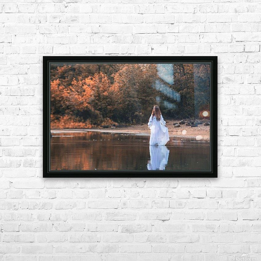 La dame du lac 2 HD Sublimation Metal print with Decorating Float Frame (BOX)
