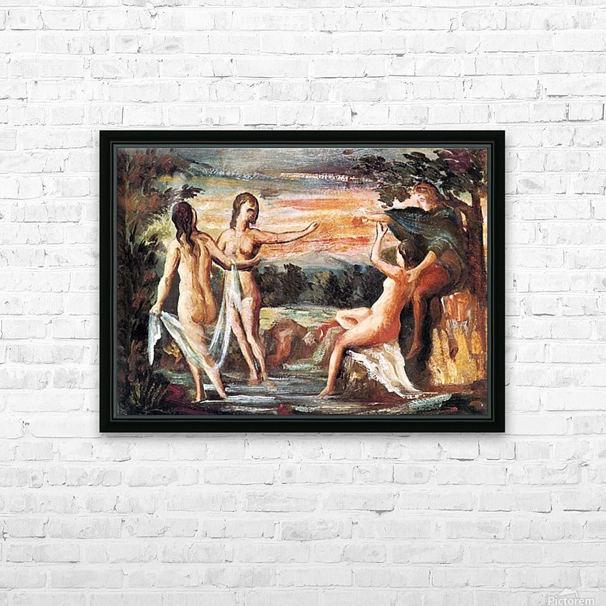 Judgement of Paris by Cezanne HD Sublimation Metal print with Decorating Float Frame (BOX)