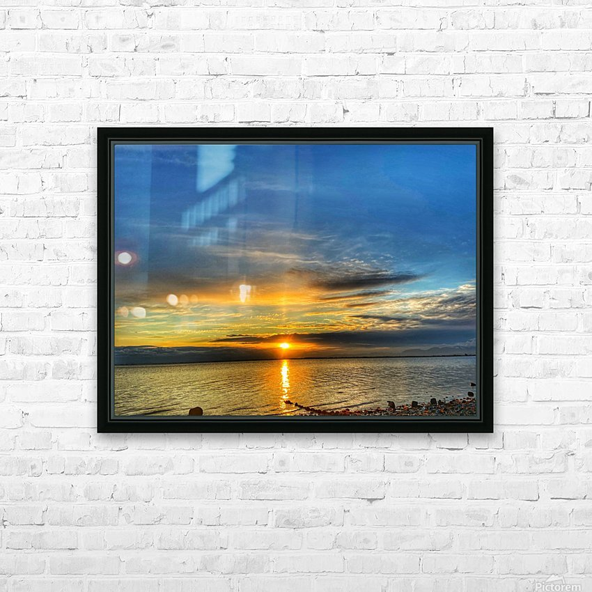 Ocean Sunsets HD Sublimation Metal print with Decorating Float Frame (BOX)