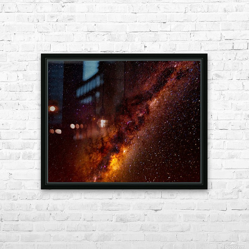 Galactic Core Explosion HD Sublimation Metal print with Decorating Float Frame (BOX)