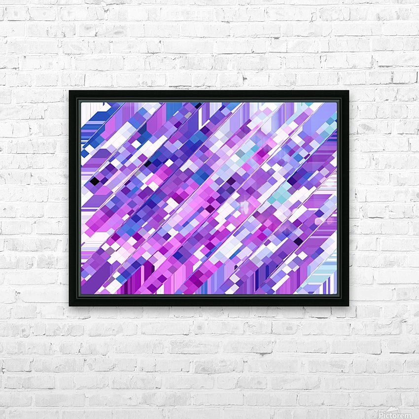 geometric square pixel pattern abstract background in purple pink HD Sublimation Metal print with Decorating Float Frame (BOX)