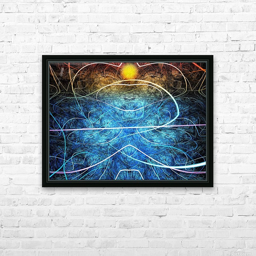 Azure shallow sunset HD Sublimation Metal print with Decorating Float Frame (BOX)