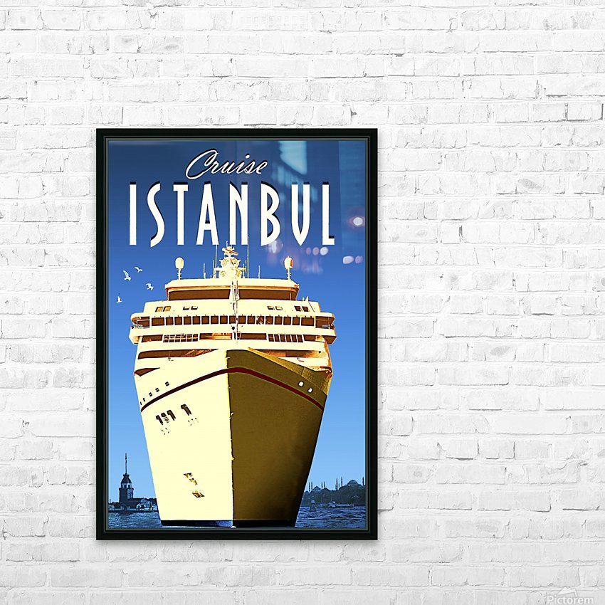 Cruise Istanbul HD Sublimation Metal print with Decorating Float Frame (BOX)