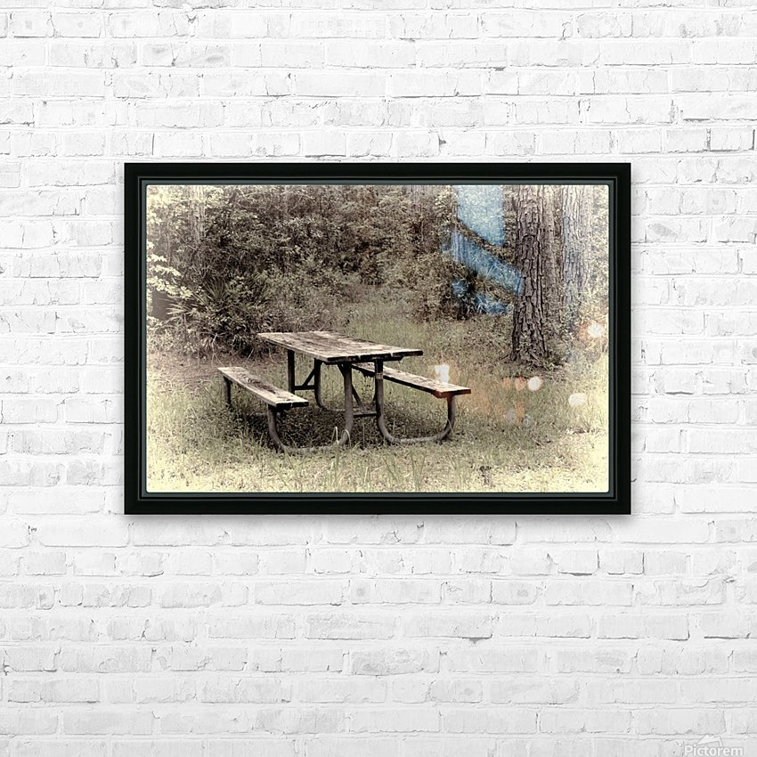 A_Lonely_Table HD Sublimation Metal print with Decorating Float Frame (BOX)