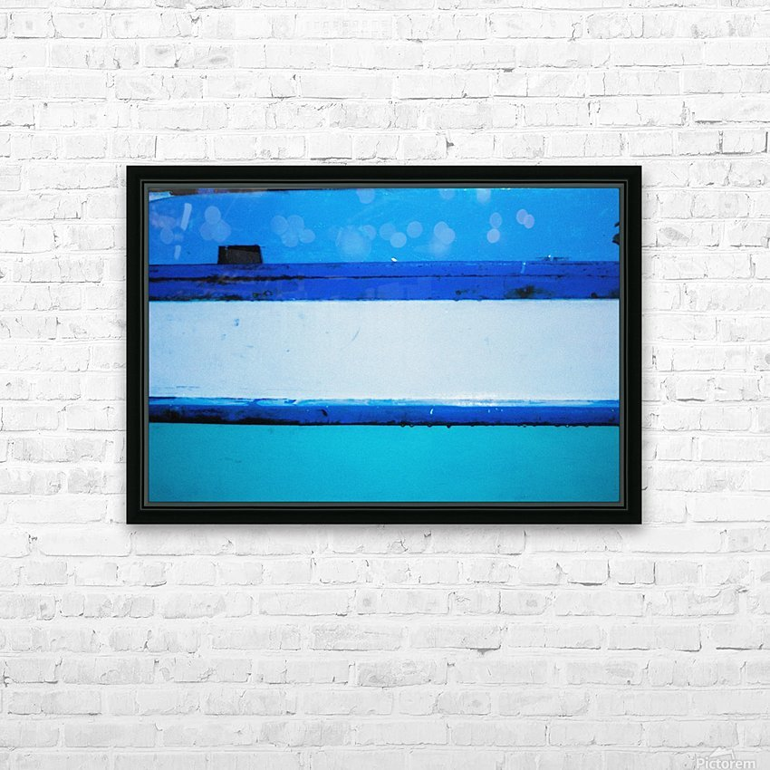 Boat - LXX HD Sublimation Metal print with Decorating Float Frame (BOX)