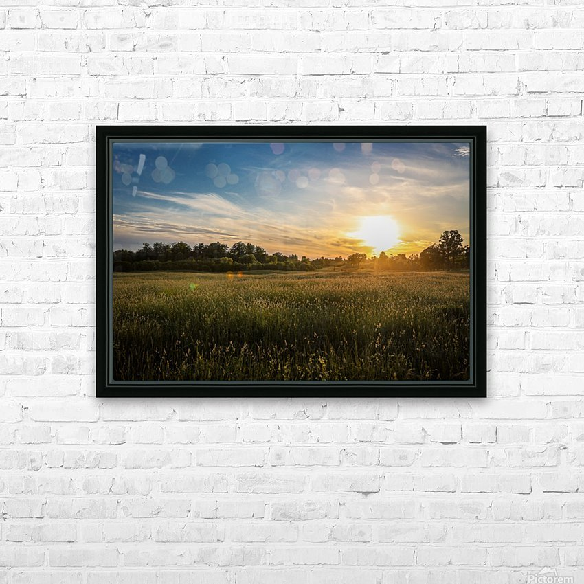 Creekside Sunset 1 HD Sublimation Metal print with Decorating Float Frame (BOX)