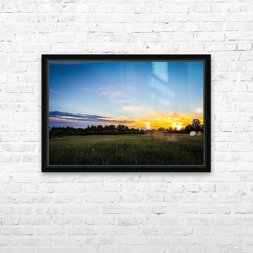 Creekside Sunset 2 HD Sublimation Metal print with Decorating Float Frame (BOX)