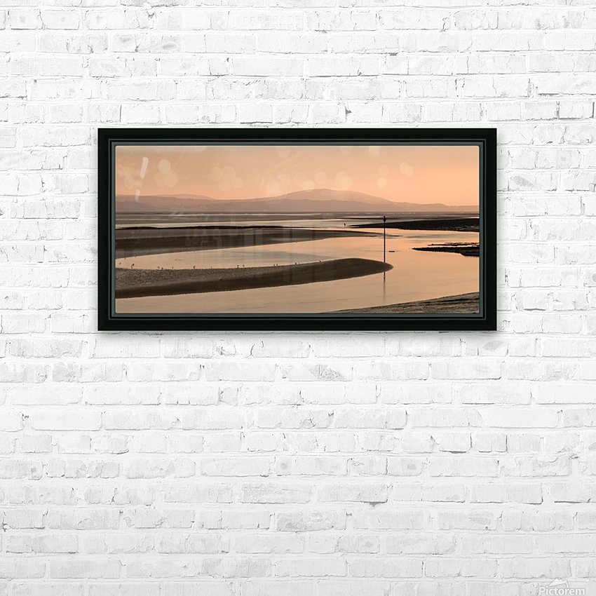 Loughor estuary at dusk HD Sublimation Metal print with Decorating Float Frame (BOX)