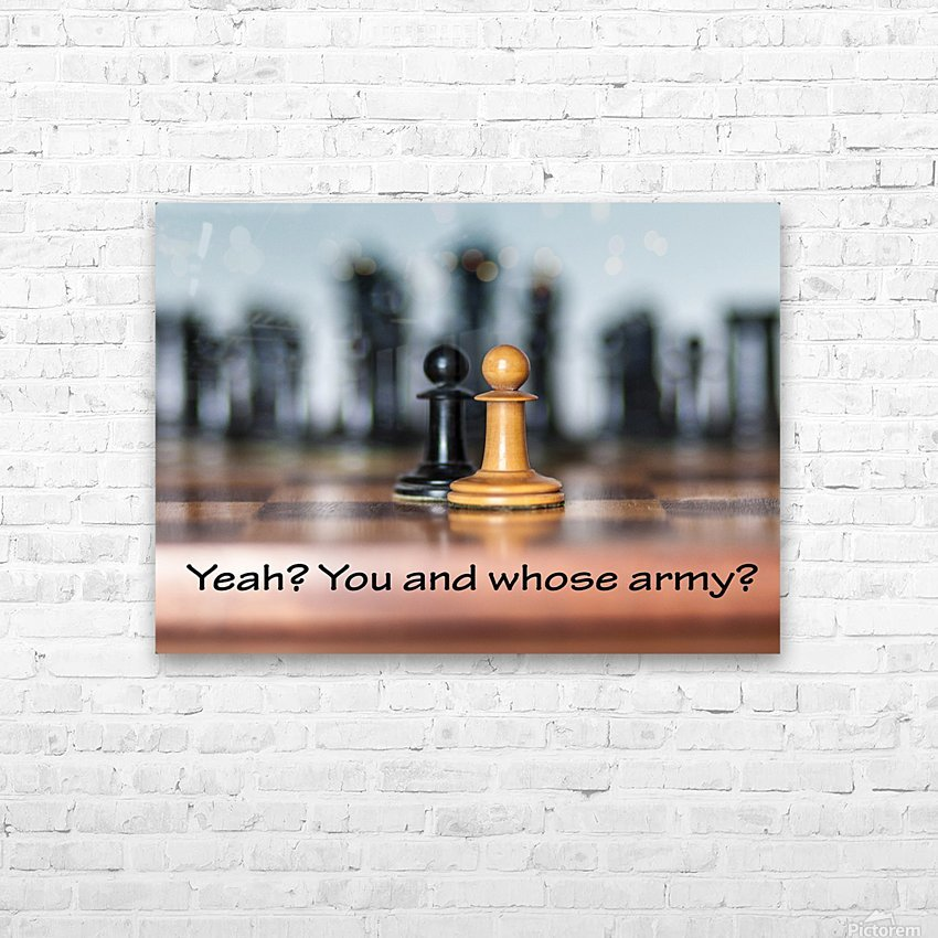 Chess battle HD Sublimation Metal print with Decorating Float Frame (BOX)