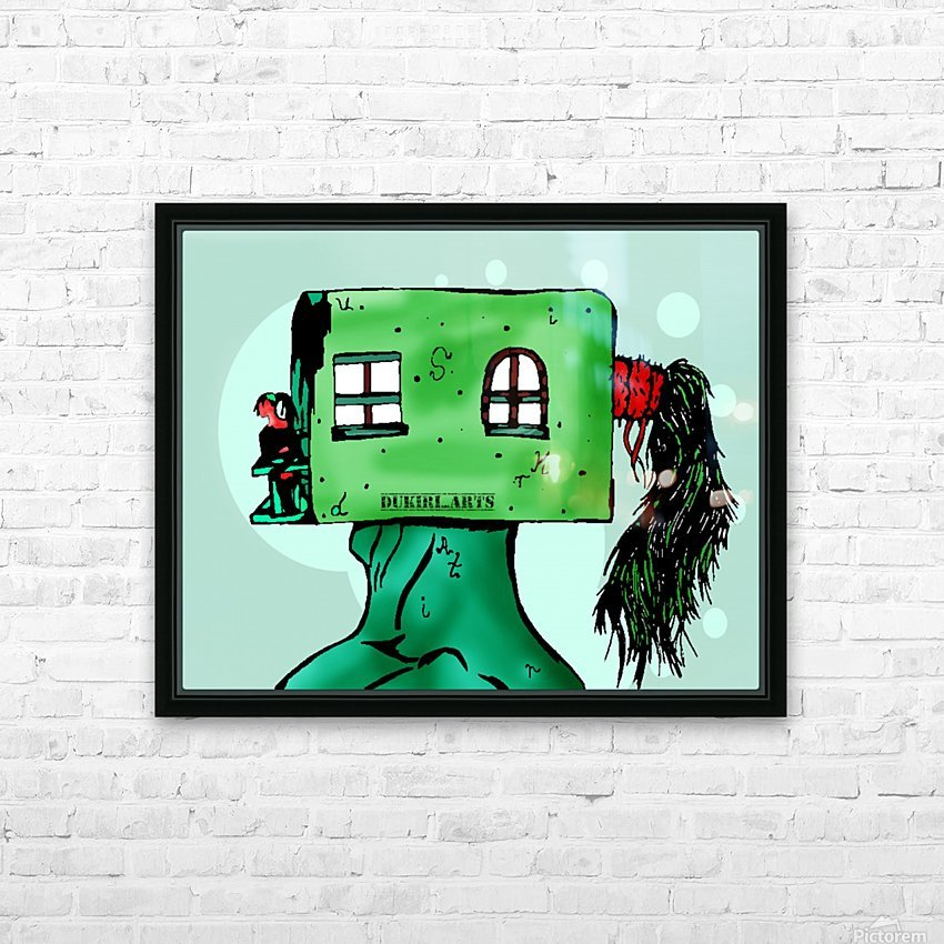 House Man  HD Sublimation Metal print with Decorating Float Frame (BOX)