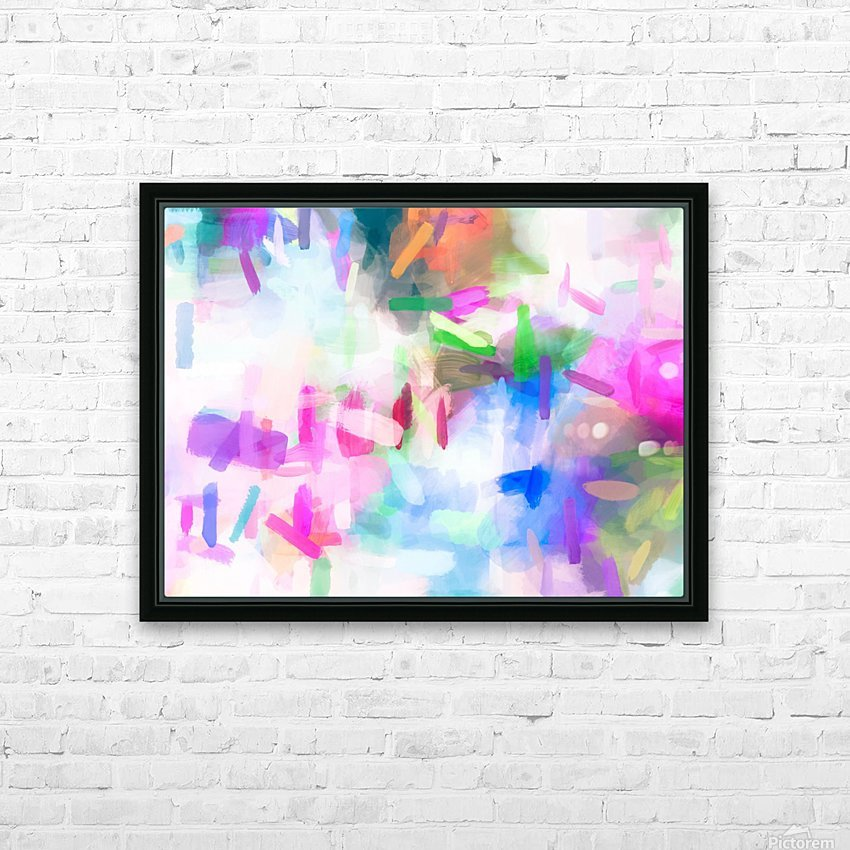 splash painting texture abstract background in pink blue green HD Sublimation Metal print with Decorating Float Frame (BOX)