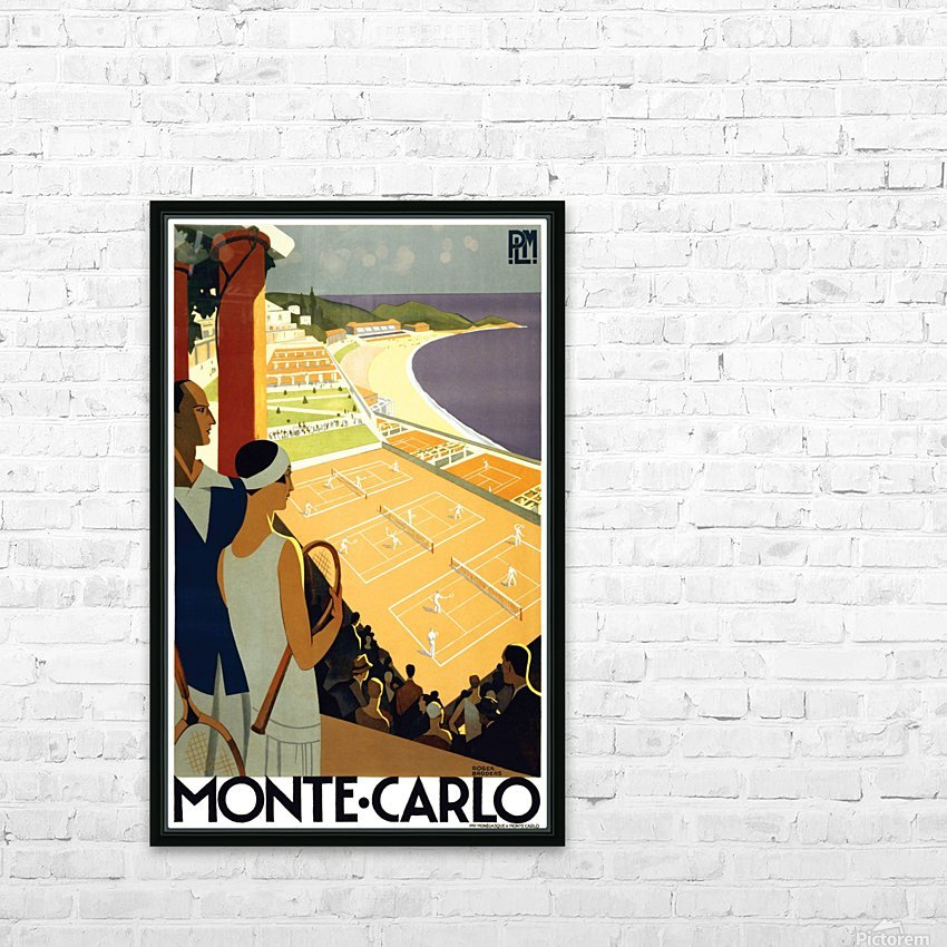 Tennis in Monte Carlo HD Sublimation Metal print with Decorating Float Frame (BOX)
