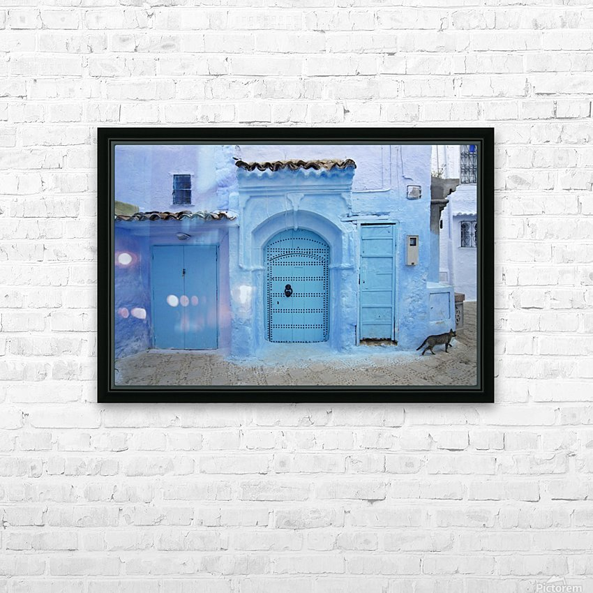 Chefchaouen Medina Morocco HD Sublimation Metal print with Decorating Float Frame (BOX)
