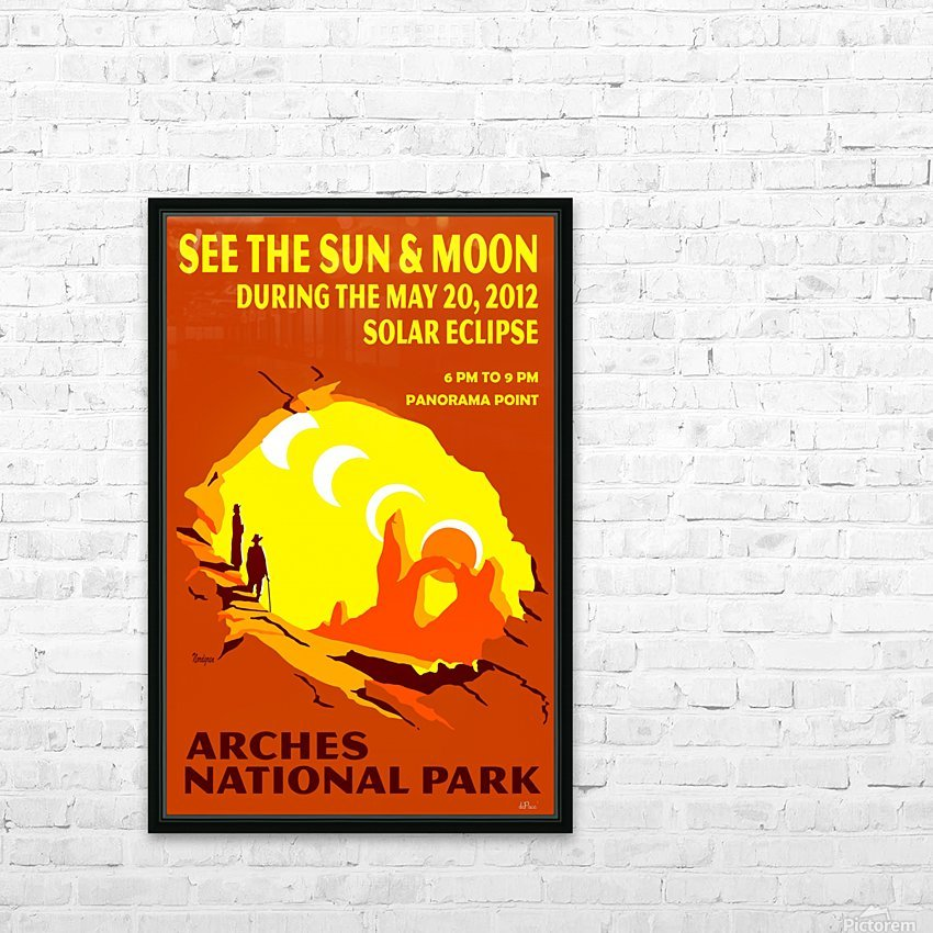 Solar Eclipse HD Sublimation Metal print with Decorating Float Frame (BOX)