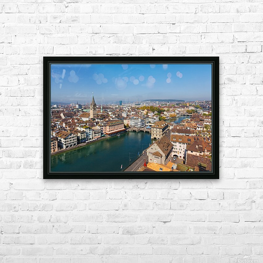 ZURICH 07 HD Sublimation Metal print with Decorating Float Frame (BOX)