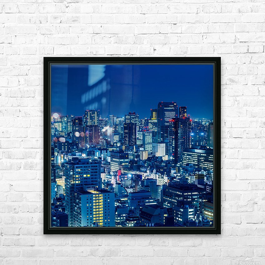 TOKYO 19 HD Sublimation Metal print with Decorating Float Frame (BOX)