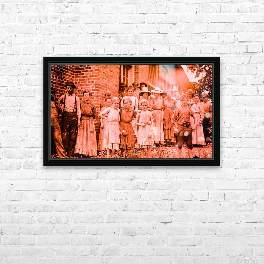 factory workers in 1911 HD Sublimation Metal print with Decorating Float Frame (BOX)