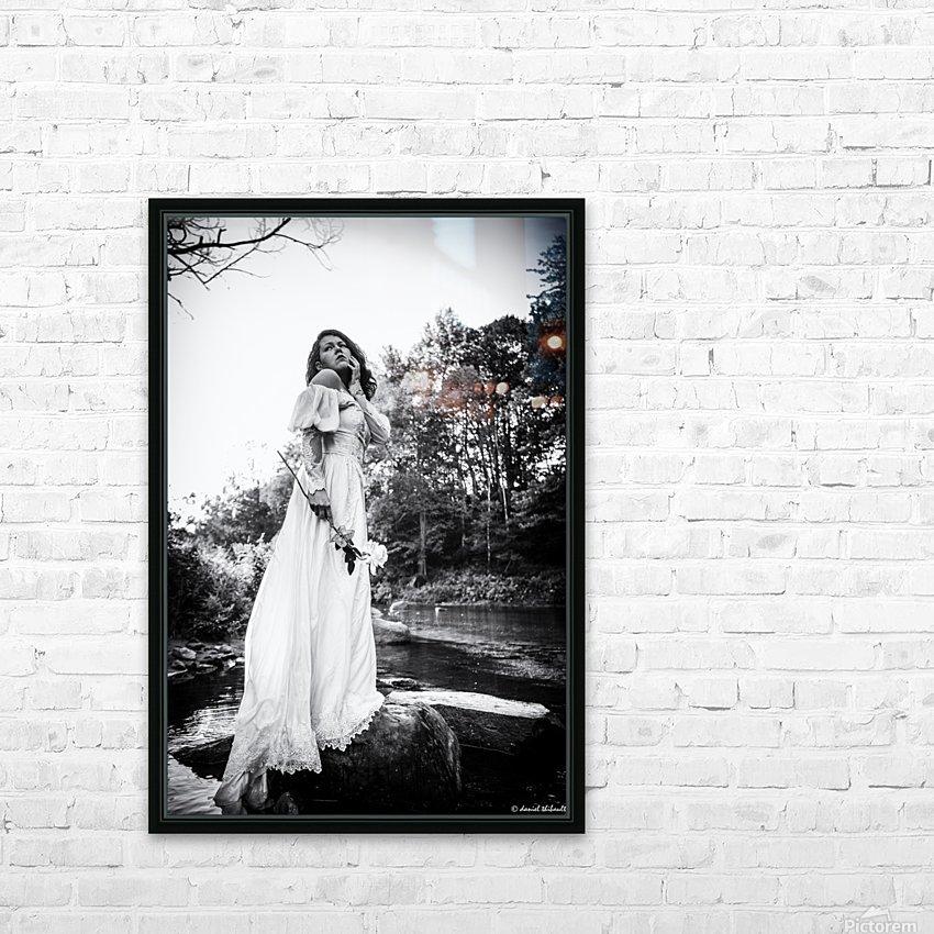 Linquietude dOphelia HD Sublimation Metal print with Decorating Float Frame (BOX)