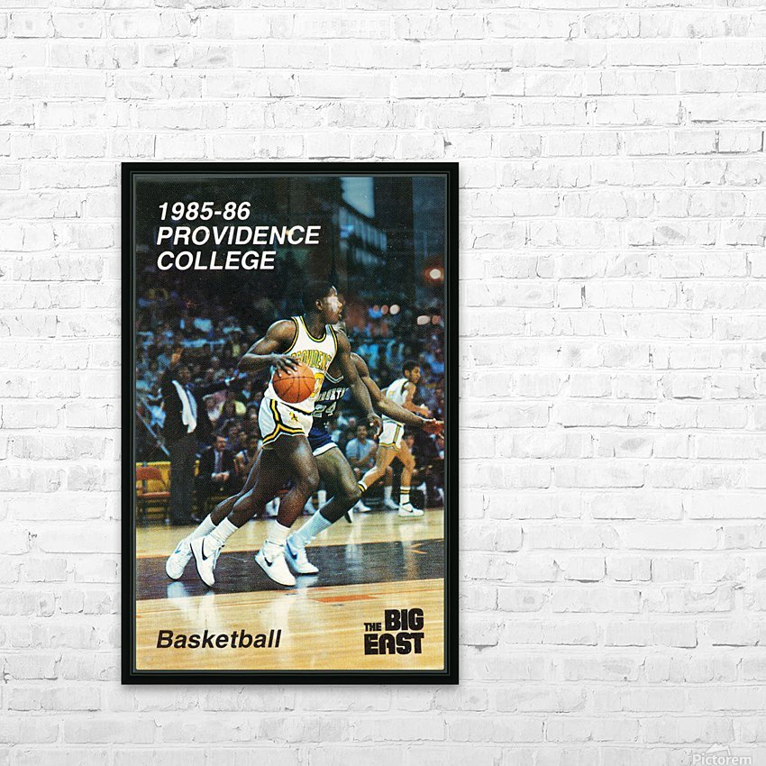 1986 providence basketball poster HD Sublimation Metal print with Decorating Float Frame (BOX)