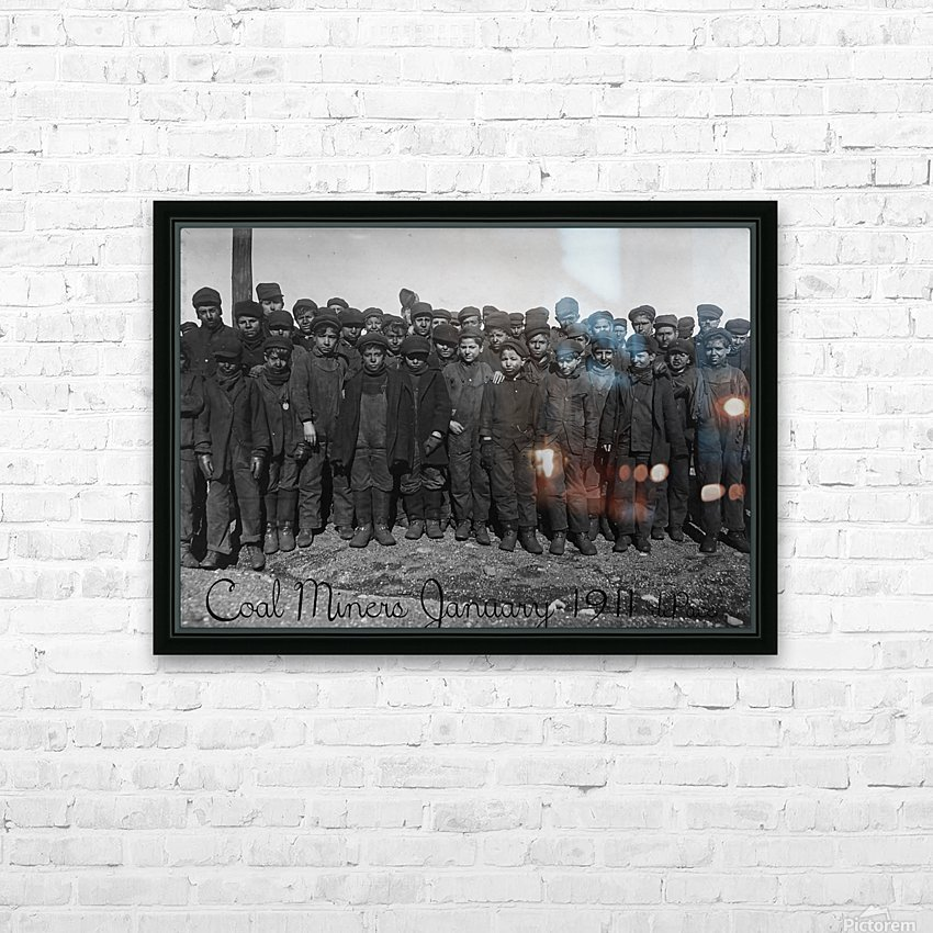 Coal Miners January 1911 HD Sublimation Metal print with Decorating Float Frame (BOX)
