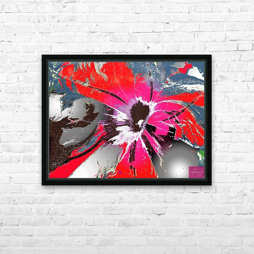 Pandemic Petunia HD Sublimation Metal print with Decorating Float Frame (BOX)