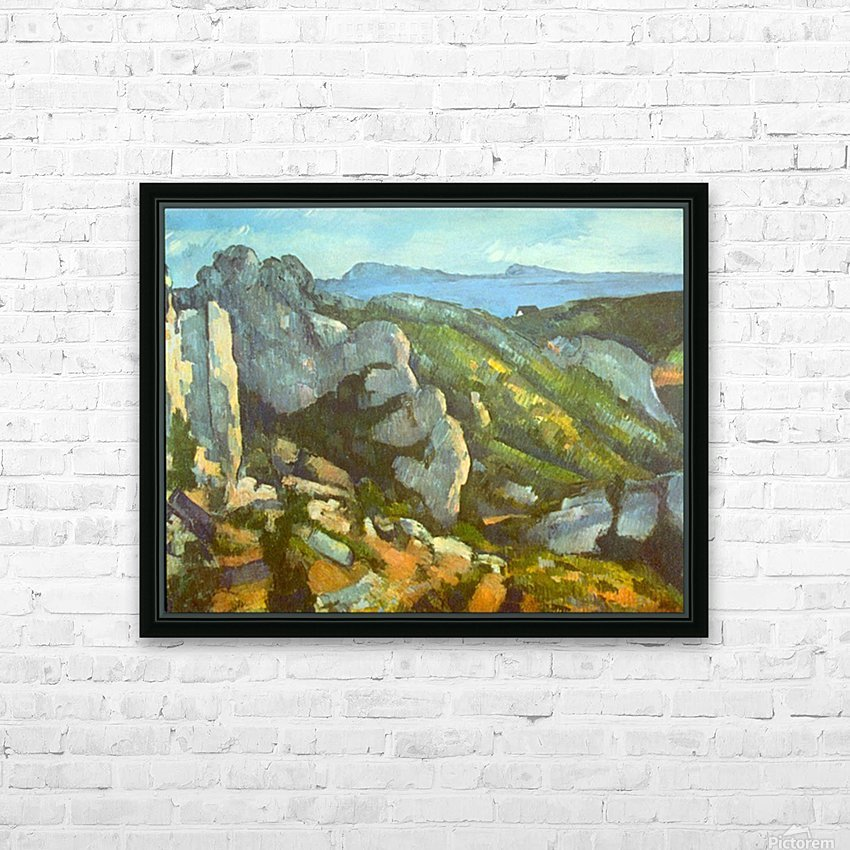 L Estaque by Cezanne HD Sublimation Metal print with Decorating Float Frame (BOX)