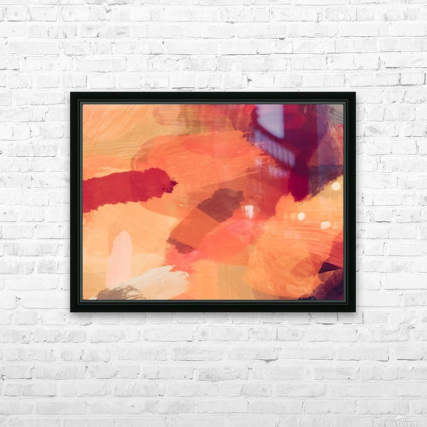 splash painting texture abstract background in brown HD Sublimation Metal print with Decorating Float Frame (BOX)