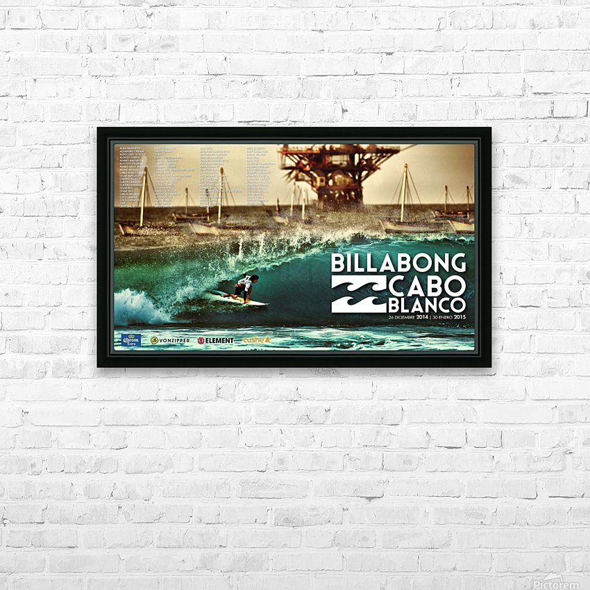 2015 BILLABONG Cabo Blanco Print - Surfing Poster HD Sublimation Metal print with Decorating Float Frame (BOX)
