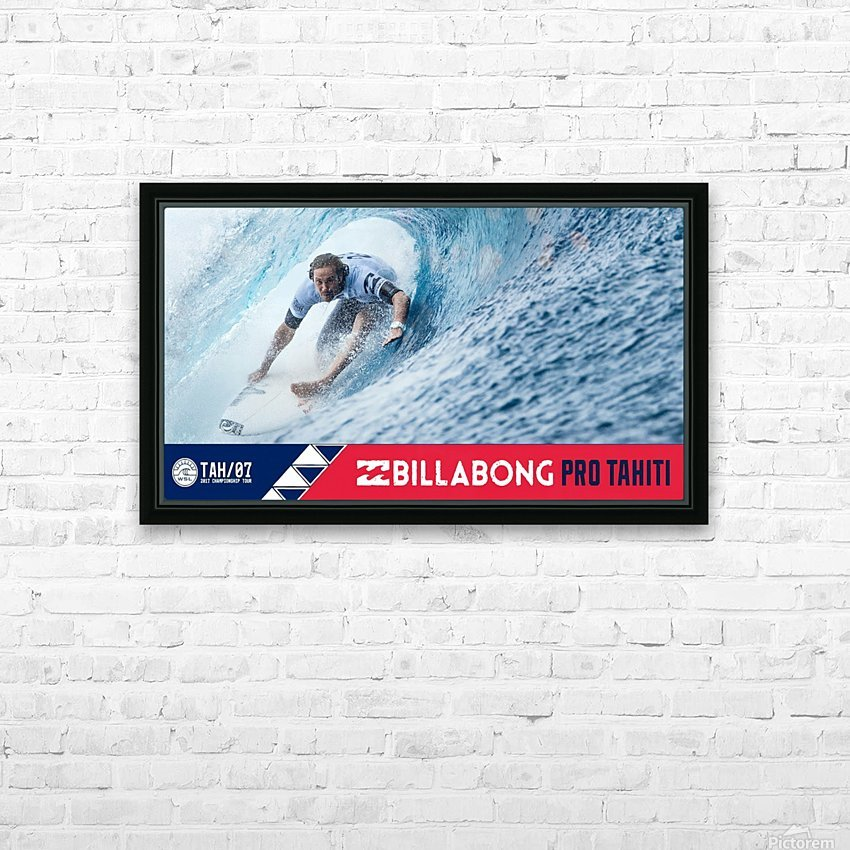 2017 BILLABONG Pro Tahiti Print - Surfing Poster HD Sublimation Metal print with Decorating Float Frame (BOX)