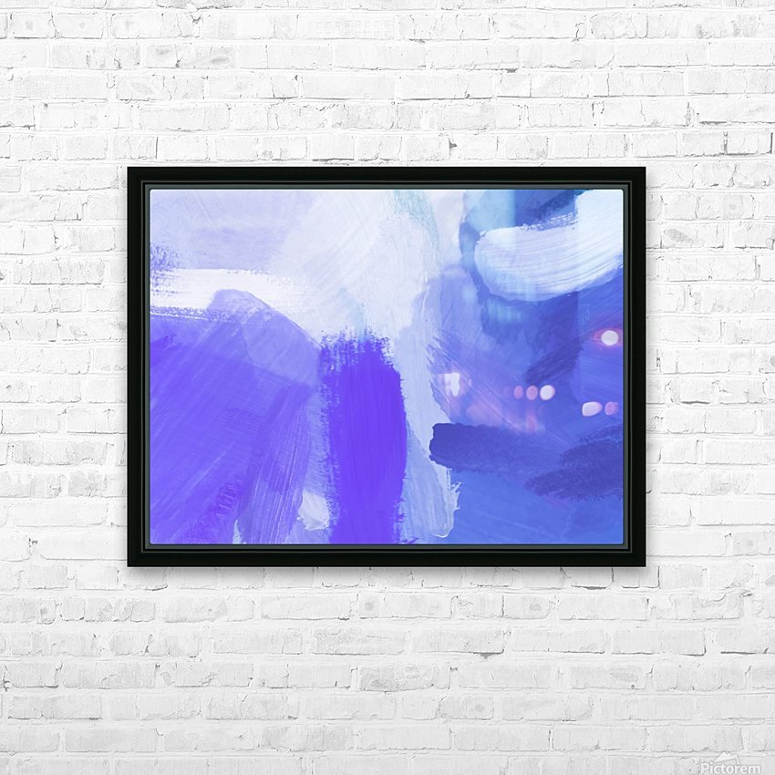 splash painting texture abstract background in blue and purple HD Sublimation Metal print with Decorating Float Frame (BOX)