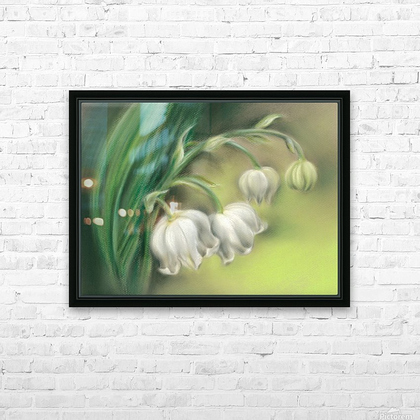Lily of the Valley Flowers HD Sublimation Metal print with Decorating Float Frame (BOX)
