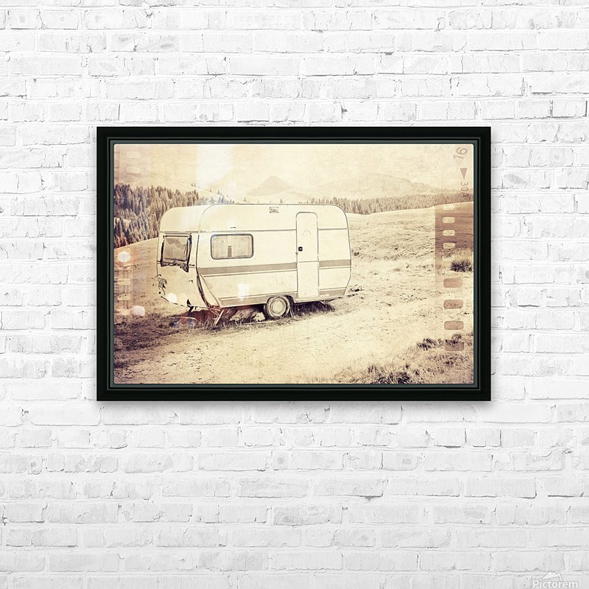 vintage travel trailer HD Sublimation Metal print with Decorating Float Frame (BOX)