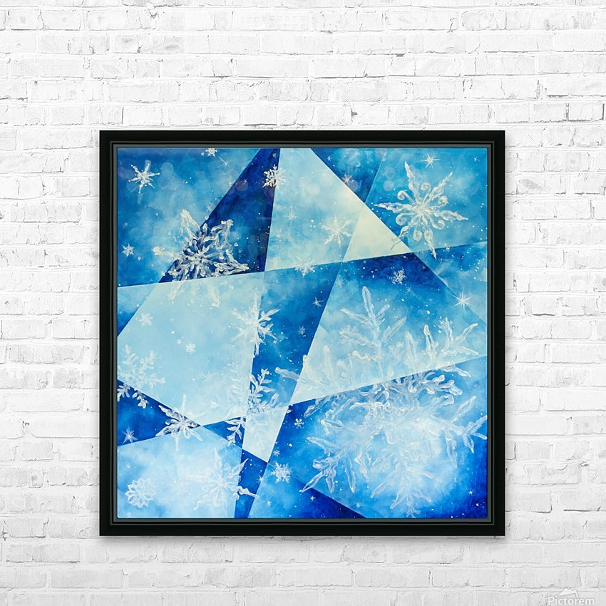 Frosty HD Sublimation Metal print with Decorating Float Frame (BOX)
