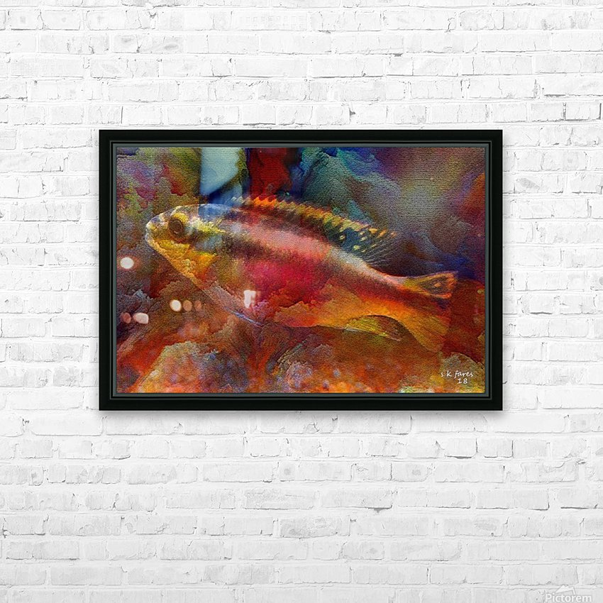 abstracart26 HD Sublimation Metal print with Decorating Float Frame (BOX)