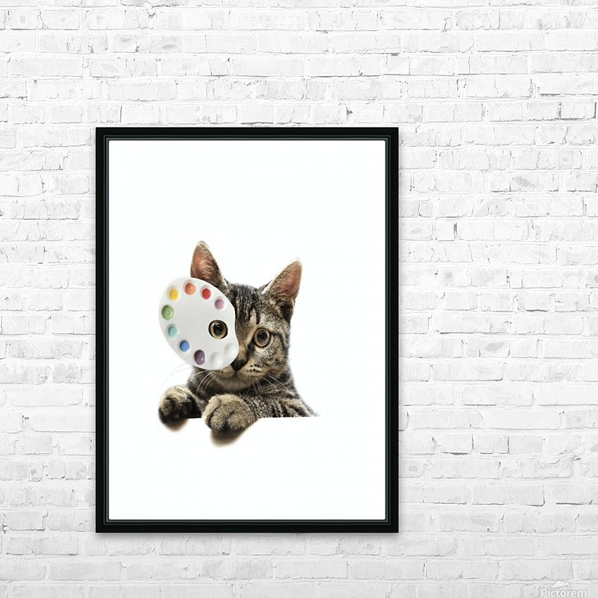 Cat Art HD Sublimation Metal print with Decorating Float Frame (BOX)