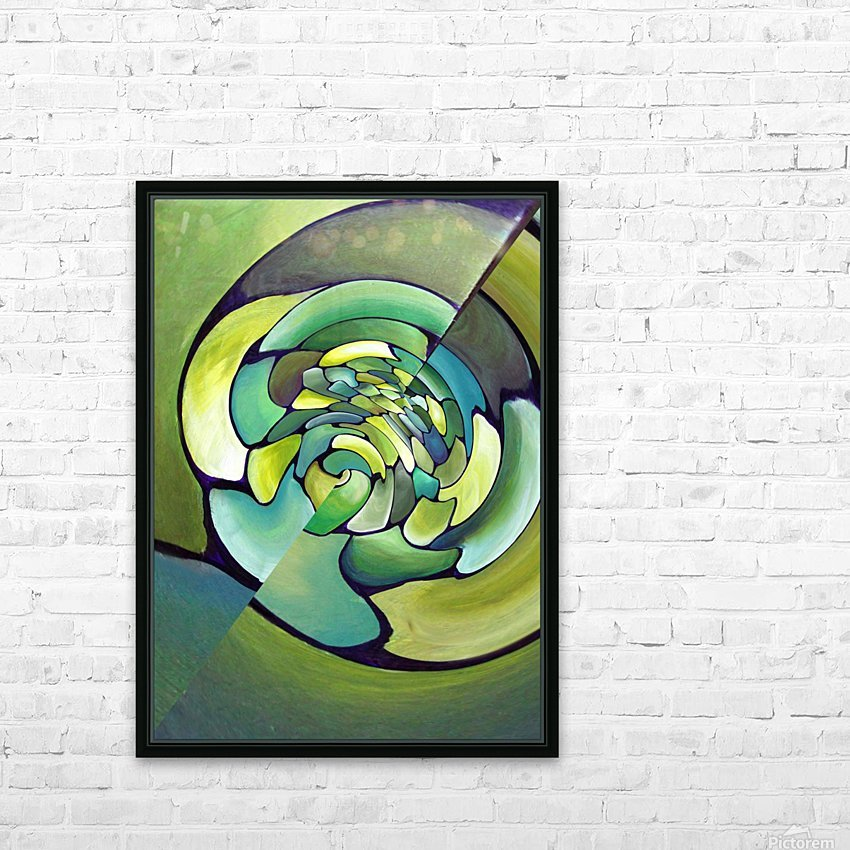 Artdeco Twisted Pattern  HD Sublimation Metal print with Decorating Float Frame (BOX)