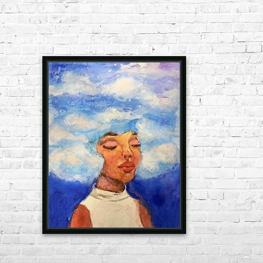 Head in the Clouds HD Sublimation Metal print with Decorating Float Frame (BOX)