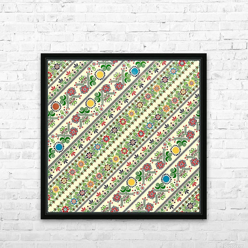 Hungarian seamless pattern  HD Sublimation Metal print with Decorating Float Frame (BOX)